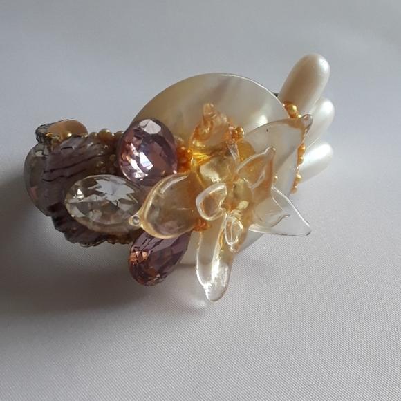 Wendy Gell Jewelry - RARE Vintage Hand Signed Wendy Gell Cuff